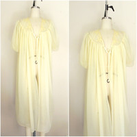 Vintage 1960s Yellow Lingerie Nightgown