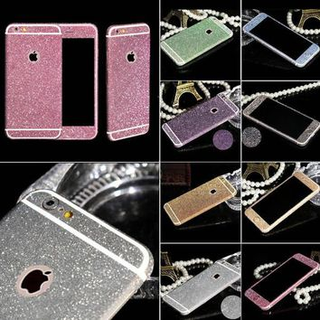 shiny full body glitter for iphone 6 6s 4 7 inch phone sticker matte screen protector mobile phone accessories