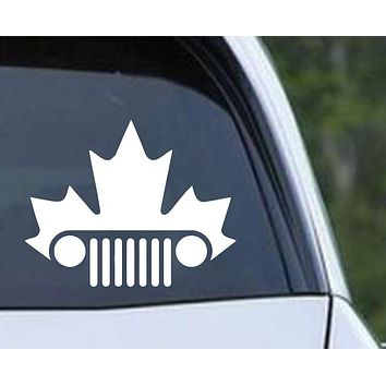 Jeep Canadian Maple Leaf Die Cut Vinyl Decal Sticker