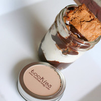SMORE's Bar Cookie Jar with Chocolate Ganache & Marshmallow Buttercreme Frosting 9 pack
