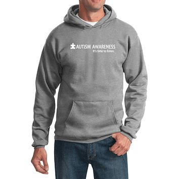 Buy Cool Shirts Autism Awareness Time to Listen Hoodie