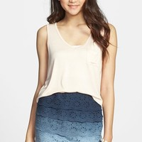 Mimi Chica Tiered Lace Ombre Skirt (Juniors)