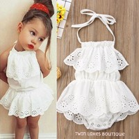Blissful White Lace Romper