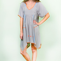 Amberly Embroidered Tunic Dress