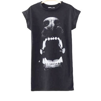 Vicious Black T-shirt Dress