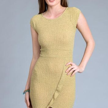 Bodycon Short Sleeve Ribbed Dress