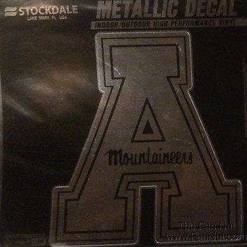 "Appalachian State Mountaineers 6"" Silver Metallic Vinyl Auto Decal University of"