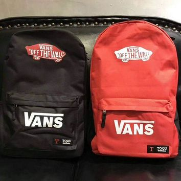 ESBUF3 VANS Canvas double shoulder backpack college students in the wind of the school children's schoolbag youth fashion bag G-A-GHSY-1