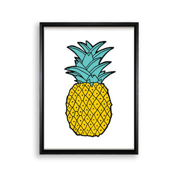 Printable Poster Wall Hanging - Pineapple - 18x24 / 11x17 / 8.4x11 / 8x10 / 5x7 / 4x6