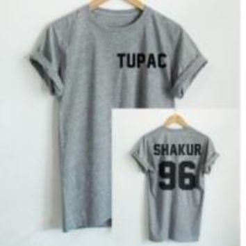 TUPAC [front] SHAKUR 96 [India] back fashion T shirt