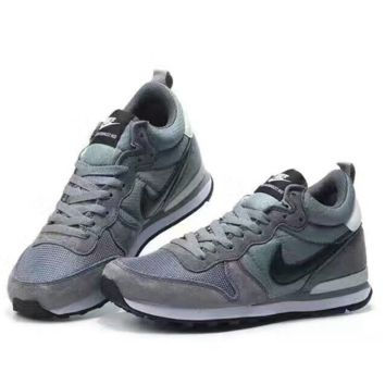 NIKE Fashion women men Casual Shoes Sneakers Grey Black hook