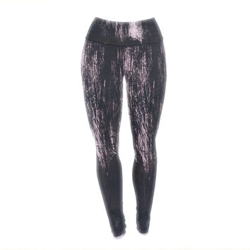 "Iris Lehnhardt ""Brushstrokes 1"" Gray Abstract Yoga Leggings"