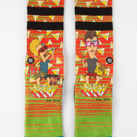 Stance Food Coma Classic Crew Mens Socks Yellow One Size For Men 26704960001