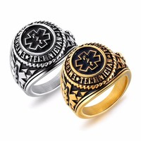 Fate Love EMT Ring Stainless Steel Original Punk Silver And Gold Ring For Men Jewelry Trendy Fantastic Boyfriend Gifts FL634