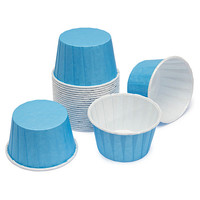 Paper 4-Ounce Candy Cups - Baby Blue: 25-Piece Pack