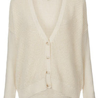Knitted Short Grunge Cardi - Knitwear  - Clothing