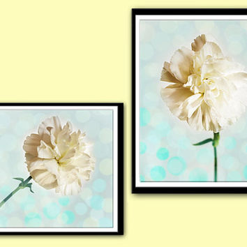 Instant Download Art Photography,White Carnations,Nature Photography,Printable Wall Art,Downloadable Digital Prints,Printable Print,Set of 2