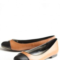 exquisite authority cap toe flats at ShopRuche.com