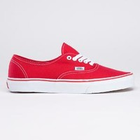 Item: Authentic (Red, size 6.5 Men = 8.0 Women)