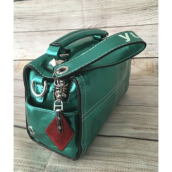 Metallic Green Shoulder Bag