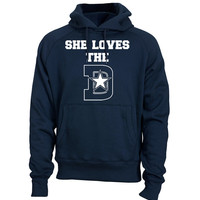 Dallas Cowboys Hoodie Sweatshirt She Loves The D  Shirt Tony Romo Dez Bryant Jersey Shirt Dallas Cowboys sweatshirt