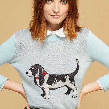 Intarsia Hound Dog Sweater