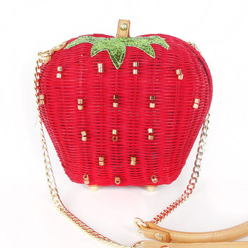 BETSEY JOHNSON Strawberry Basket Bag