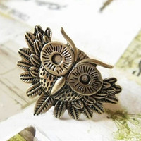New Arrival Stylish Shiny Jewelry Gift Korean Alloy Accessory Hot Sale Vintage Owl Ring [6586193607]