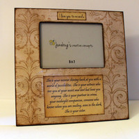 Large 12x12 Photo Frame 5x7 Vintage Aged Scroll