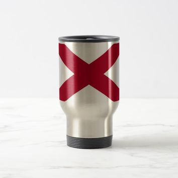 Travel Mug with Flag of Alabama State - USA