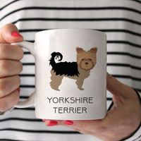 Yorkshire Terrier Coffee Mug - Yorkshire Terrier Ceramic Mug  - Dog Mug - Yorkshire Terrier Lover Gift - Yorkie Coffee Mug - Yorkie gift