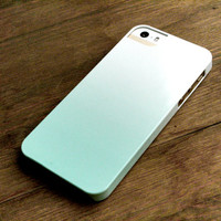 Cell Phone Case - Mint Green Ombre - iPhone 4 / 4S, iPhone 5, Galaxy S3 / S4, iPod Touch, iPad Mini, iPad 2 / 3, iPhone 5S, iPhone 5C Case