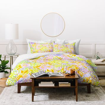 Joy Laforme Abstract Tropics II Duvet Cover