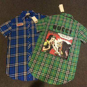 GUCCI Check Fabric Shirt