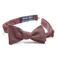 Burgundy Chambray Bow Tie