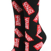 Married To The Mob Bitch Allover Crew Socks