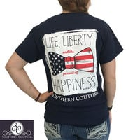 Southern Couture Preppy USA Liberty Bow T-Shirt