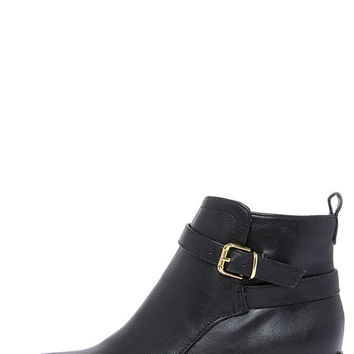 Posh Soul Black Ankle Boots