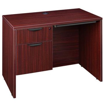 "Legacy 42"" Single Pedestal Desk with Pencil Drawer- Mahogany"