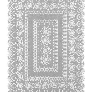 Rose 52X72 Rectangle Tablecloth, Off White