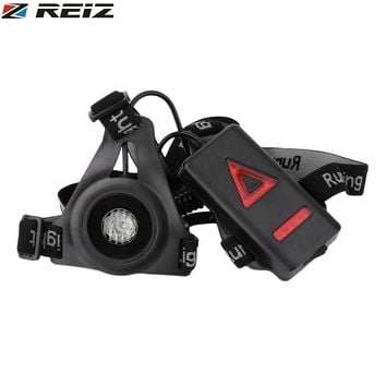 REIZ Outdoor Sport Running Lights Q5 LED Night Running Flashlight Warning Lights USB Charge Chest Lamp White Light Torch Tools