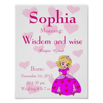 Personalize Name meaning keepsake print