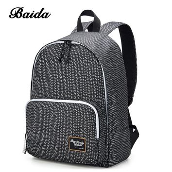 BAIDA Fashion Women Backpack High Quality Notebook Bolsa Mochila Laptop Computer Female Bags Travel School Daypack for College