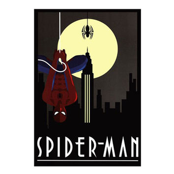 Spiderman Art Deco Poster