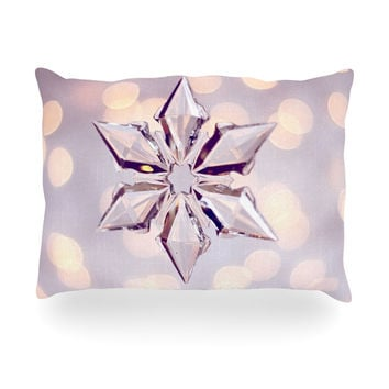 "Sylvia Cook ""Starbright"" Holiday Oblong Pillow"