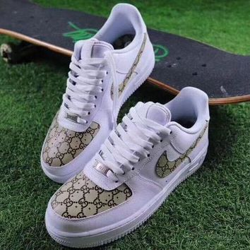 Boys & Men Nike Air Force 1 Low NYC SOHO x Gucci Louis Vuitton Sport Shoes Sneakers
