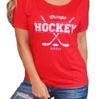 Chicago Blackhawks Women's Flowy Tee | SportyThreads.com