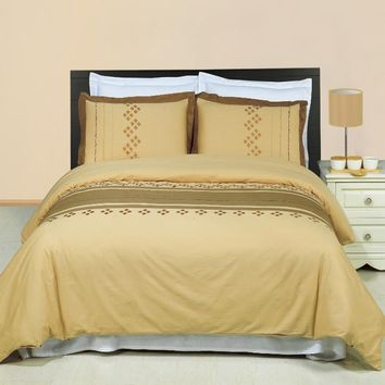 lakewood 3PC Printed Combed cotton Duvet Cover Set