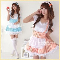 HALLOWEEN PARTY JAPANESE SEXY MAID COSPLAY COSTUME SWEET BERRY MAID