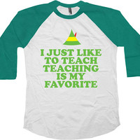 Teacher Gifts For Christmas T Shirt Xmas Present Holiday Outfit Teacher Appreciation Christmas TShirt Xmas Outfit Holiday Raglan Tee - SA868